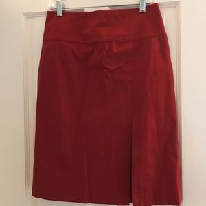 Red, Banana Republic Pencil Skirt